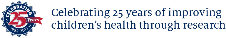 Celebrating 25 years of improving  children's health through research