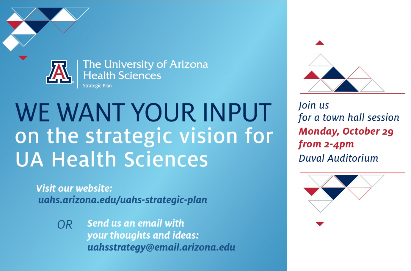 Wanted: Input on the Strategic Vision for UA Health ...